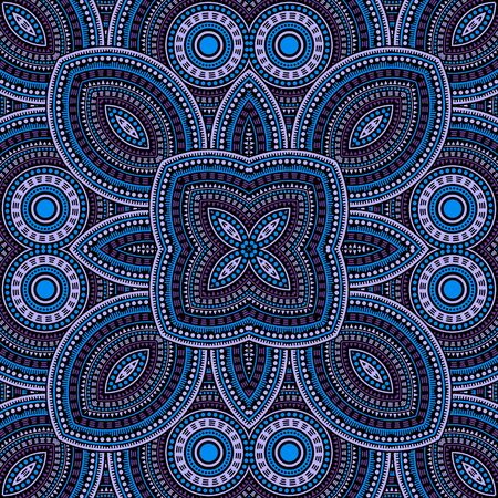 Fine moroccan zellige tile seamless ornament. Ethnic structure vector swatch. Wrap print design. Classic moroccan zellige tilework eternal pattern. Wall decoration template. Vektorgrafik