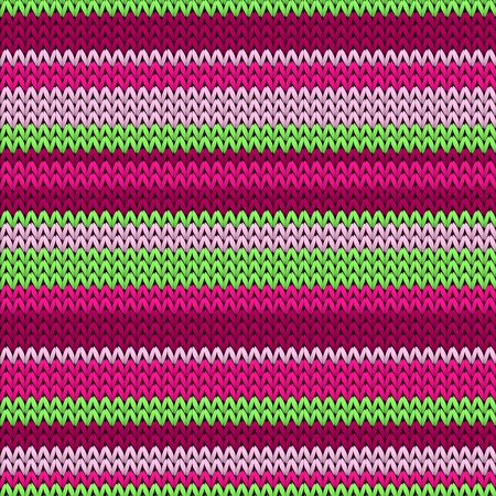 Handmade horizontal stripes knitted texture geometric vector seamless. Pullover knitwear fabric print. Nordic style seamless knitted pattern. Christmas spirit backdrop.