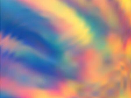 Ilustración de vector de neón degradado holográfico. Fondo de gráficos de fiesta de neón elegante. Fondo de neón de colores líquidos. Impresión de brillo de fondo holográfico de neón degradado vivo.
