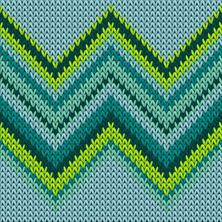 Handicraft zig zag lines knitted texture geometric vector seamless. Jacquard knitwear fabric print. Traditional seamless knitted pattern. Cozy textile print design. 向量圖像