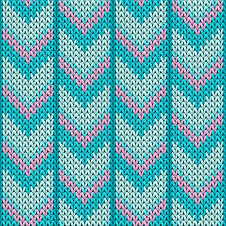 Macro downward arrow lines knit texture geometric vector seamless. Jumper knitwear structure imitation. Norwegian style seamless knitted pattern. Winter holidays wallpaper.