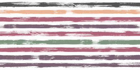 Old watercolor brush stripes seamless pattern. Paintbrush lines horizontal seamless texture for background. Hand drown paint strokes decoration artwork. For cloth.