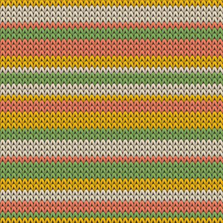 Yarn horizontal stripes christmas knit geometric seamless pattern. Jacquard hosiery textile print. Nordic style seamless knitted pattern. Fabric canvas illustration.