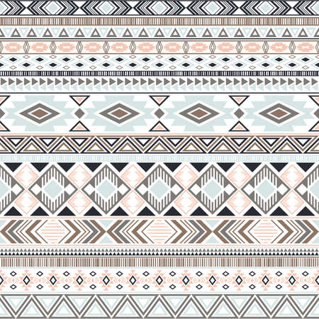 Mexican american indian pattern tribal ethnic motifs geometric seamless background. Rich native american tribal motifs clothing fabric ethnic traditional design. Aztec symbol fabric print.