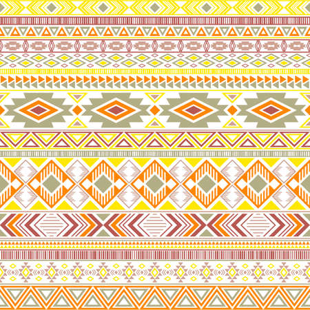 Aztec american indian pattern tribal ethnic motifs geometric seamless background. Impressive native american tribal motifs clothing fabric ethnic traditional design. Mayan clothes pattern design.