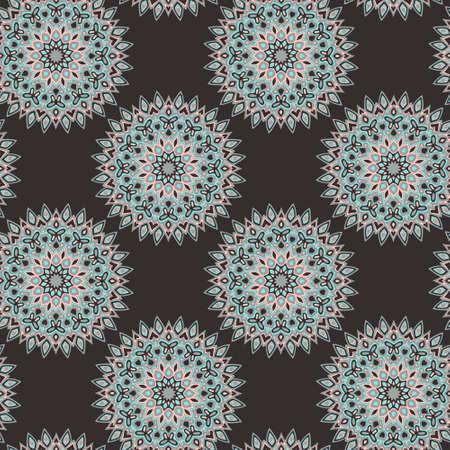 Mandala flower pattern tile or wallpaper vector design. Geometric islamic elements motifs. Vintage background pattern.