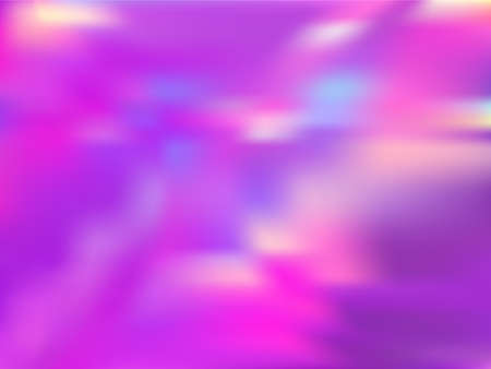Hologram effect glitch gradient vector design. Digital iridescent mermaid background. Hologram colors liquid background. Simple neon glitch effect hologram gradient wallpaper.