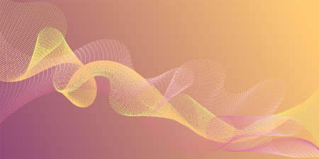 Wave line ribbon advanced background. Reticulated intersecting curves geometry backdrop. Modern curl lines ripple texture design. Technological optical fiber concept vector.
