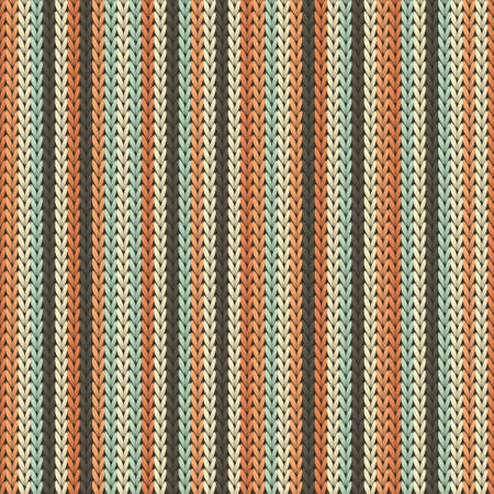 Bright vertical stripes knitting texture geometric seamless pattern. Fair isle sweater hosiery textile print. Fashionable seamless knitted pattern. Winter holidays wallpaper.