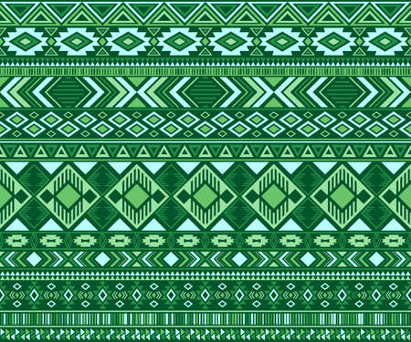 Navajo american indian pattern tribal ethnic motifs geometric seamless background. Abstract native american tribal motifs textile print ethnic traditional design. Navajo symbols textile pattern. Vettoriali
