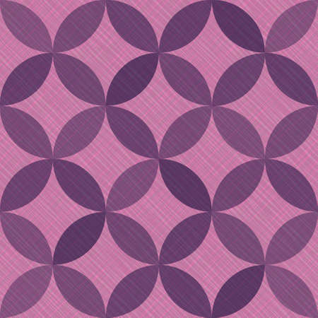 Interlacing circles parts arabic seamless vector pattern. Guatrefoil flower purple medieval endless ornament. Circle elements repeating fabric print. Geometric mosaic motifs.