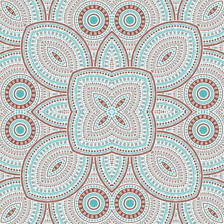 Flat victorian majolica tile seamless pattern. Ethnic structure vector patchwork. Ceramics print design. Stylized spanish mayolica tilework repetitive pattern. Interior decoration print. 免版税图像 - 151149612
