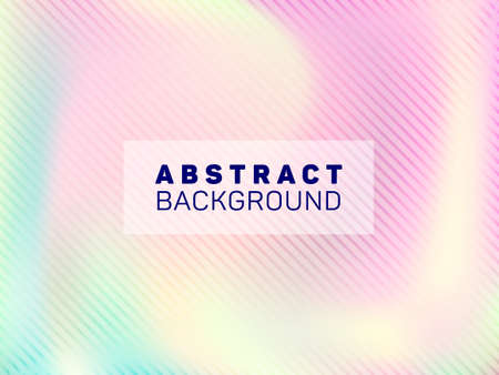 Mesmerizing voucher geometric holographic vector background. Business card blurred holo backdrop. Lucid abstract geometric template for voucher design. Vecteurs