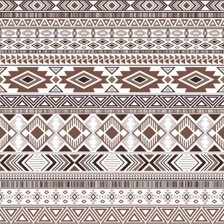 Mayan american indian pattern tribal ethnic motifs geometric vector background. Abstract native american tribal motifs clothing fabric ethnic traditional design. Aztec symbol fabric print. Vecteurs