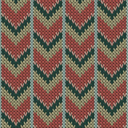 Cashmere downward arrow lines christmas knit geometric vector seamless. Carpet stockinet ornament. Classic warm seamless knitted pattern. Repeatable background. Vettoriali