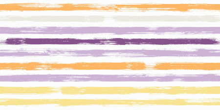 Old watercolor brush stripes seamless pattern. and paintbrush lines horizontal seamless texture for backdrop. Hand drown paint strokes decorative artwork. For fabric. Illusztráció