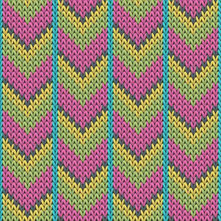 Woolen downward arrow lines christmas knit geometric seamless pattern. Blanket knitting pattern imitation. Winter seamless knitted pattern. Christmas spirit backdrop.