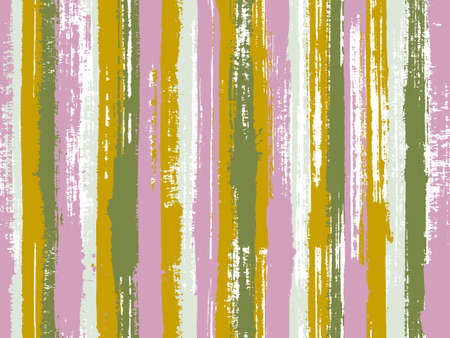 Watercolor strips seamless vector background. Parellel gouache vertical lines seamless backdrop. Striped tablecloth textile print. Multicolor ethnic sample swatch design.