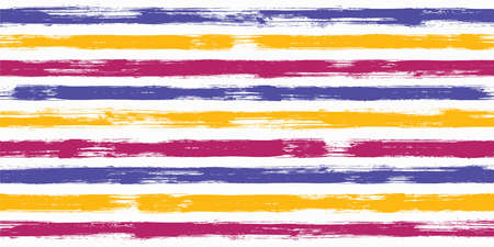 Modern watercolor brush stripes seamless pattern. Ink paintbrush lines horizontal seamless texture for background. Hand drown paint strokes design artwork. For fabric.