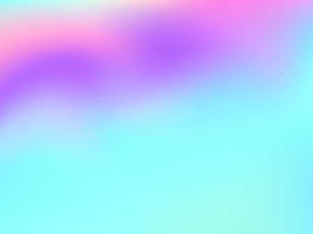 Holographic gradient neon vector illustration. Blurry iridescent mermaid background. Liquid colors neon background. Mesmerizing gradient neon holographic backdrop shimmer print.
