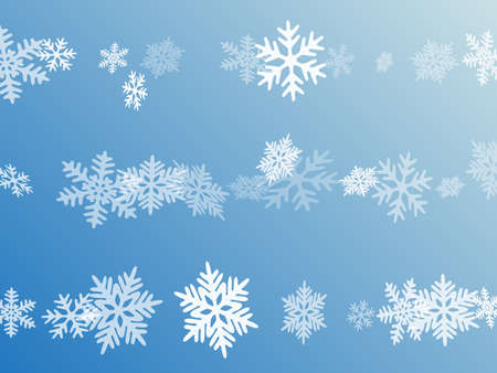 Snow flakes falling macro vector illustration, christmas snowflakes confetti falling scatter card. Winter snow shapes decor. Motion flakes falling and flying winter seasonal weather vector.