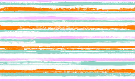 Ink thin rough stripes vector seamless pattern. Old texture swimwear marine design. Scratchy texture rough stripes, lines background swatch. Seamless ornament.