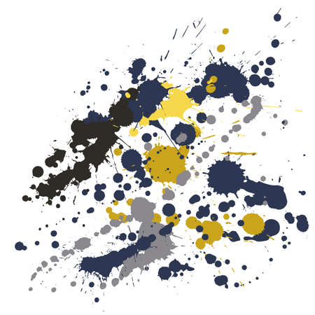 Watercolor paint stains grunge background vector. Cool ink splatter, spray blots, mud spot elements, wall graffiti. Watercolor paint splashes pattern, smear fluid stains spots backdrop.