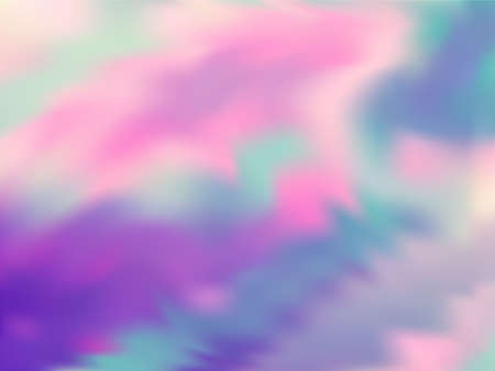 Neon holographic paper fluid gradient backdrop. Mesmerizing pink turquoise purple background. Liquid colors splash background. Hipster blurred splash holographic vector wrapping paper.