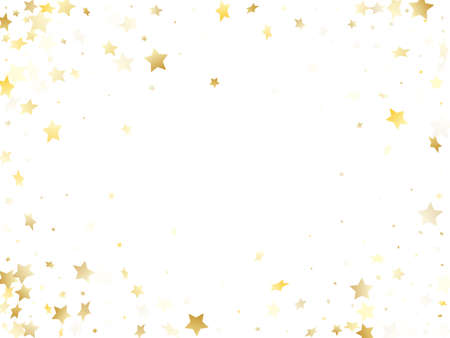 Magic gold sparkle texture vector star background. Modern gold falling magic stars on white background sparkle pattern graphic design. Christmas confetti glitter flying pattern. Illustration