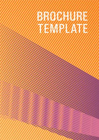 Halftone lines texture vector print background. Elegant commercial cover geometry. Bauhaus minimal placard background. Minimal presentation backdrop. Bright business report concept. Stock Illustratie