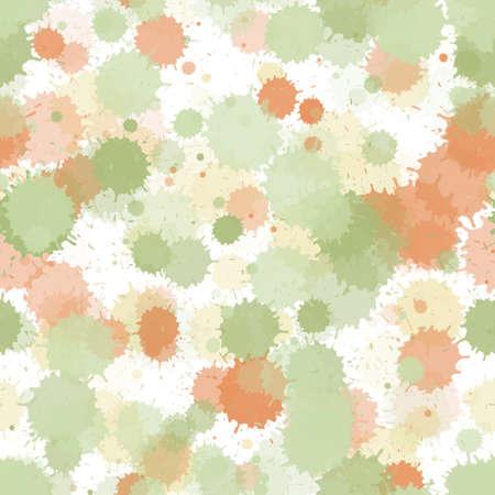 Paint transparent stains vector seamless grunge background. Random ink splatter, spray blots, mud spot elements seamless. Watercolor paint splashes pattern, smear liquid stains. 向量圖像