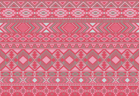 Indian pattern tribal ethnic motifs geometric  background. Modern ikat tribal motifs clothing fabric textile print traditional design with triangle and rhombus shapes.