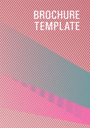Linear geometry poster background template. Bright business report concept. Banner backdrop simple print idea. Trendy magazine backdrop. Thin stripes blend cover design. 向量圖像