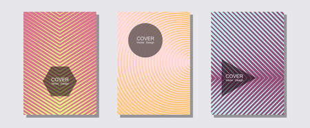 Abstract shapes of multiple lines halftone patterns. Music album adverts. Halftone lines music poster background. Trendy magazines. Cool abstract shapes gradient texture backgrounds.
