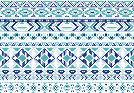 Gypsy pattern tribal ethnic motifs geometric seamless background. Rich gypsy tribal motifs clothing fabric textile print traditional design with triangles