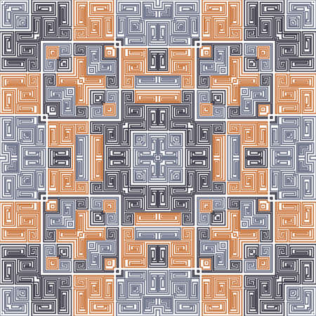 Navajo geometric seamless pattern ethnic design. Vector tribal fabric print. Mexican or peruvian tribe pattern. Folk motif of geometric lines. Trendy background. Maya ornament.