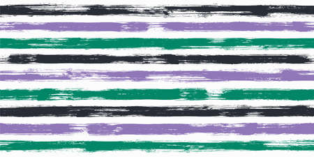 Bold watercolor brush stripes seamless pattern. Ink paintbrush lines horizontal seamless texture for background. Hand drown paint strokes graphic artwork. For wallpaper.