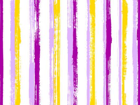 Pain hand drawn irregular stripes vector seamless pattern. Variegated candy wrap  sweet design. Vintage geometric irregular stripes, lines background swatch. Seamless backdrop. Vettoriali