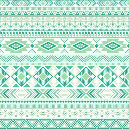 Aztec american indian pattern tribal ethnic motifs geometric seamless background. Cool native american tribal motifs textile print ethnic traditional design. Mexican folk fashion.
