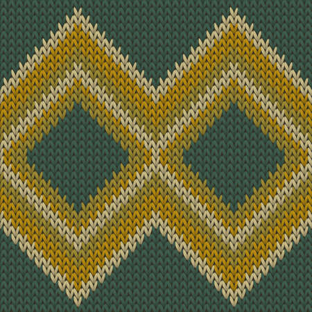 Clothing rhombus argyle knitting texture geometric vector seamless. Fair isle sweater knitwear fabric print. Scandinavian style seamless knitted pattern. Fabric canvas illustration.