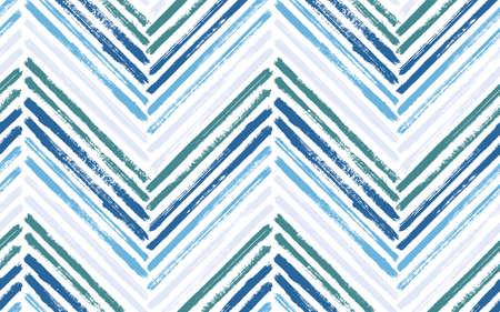 Irregular zig zag interior print vector seamless pattern. Paint brush stroke geometric stripes. Hand drawn paint texture zig zag chevron backdrop. Stripes lines textile print seamless design.