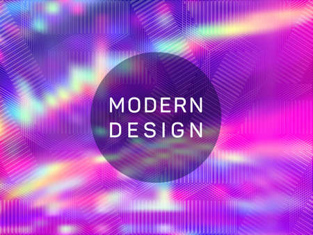 Dynamic presentation holographic gradient vector template. Liquid abstract blur splashes backdrop. Vivid gradient holographic background for presentation.