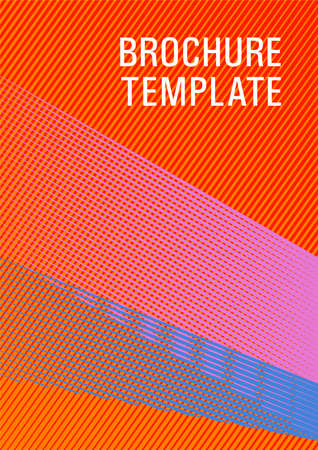 Geometric shapes with lines texture vector cover. Bauhaus minimal placard background. School notebook cover template. Futuristic publication paper. Trendy magazine backdrop.