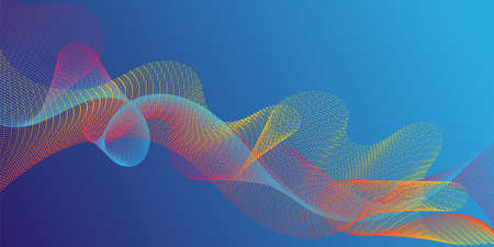Fiber lines geometric simple background. Technological optical fiber concept vector. Uneven curl lines ripple texture design. Scientific researches dynamic curves web trendy background.