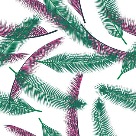 Tropical feather plumage vector seamless pattern. Magic wallpaper. Airy natural feather plumage fashion print ornament.