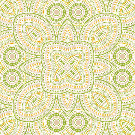 Flat italian maiolica tile seamless rapport. Geometric texture vector patchwork. Fabric print design. Classic italian mayolica tilework seamless pattern. Line art graphic background. Ilustração