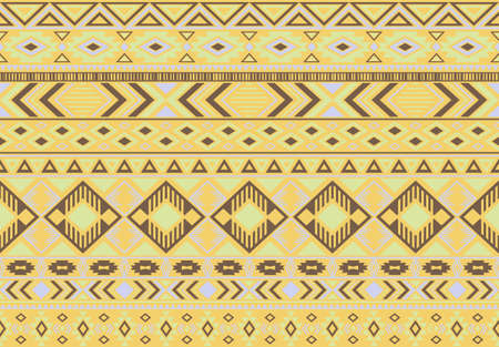 Indian pattern tribal ethnic motifs geometric seamless vector background. Awesome ikat tribal motifs clothing fabric textile print traditional design with triangle and rhombus shapes.