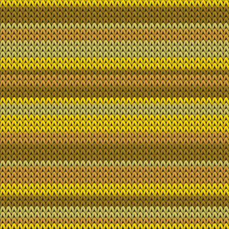 Trendy horizontal stripes knit texture geometric seamless pattern. Scarf stockinet ornament. Winter seamless knitted pattern. Fabric canvas illustration. Ilustração