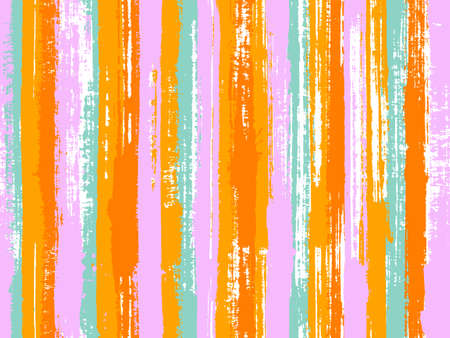 Watercolor strips seamless vector background. Distress texture ornament sample swatch. Old style material graphic background. Striped tablecloth textile print.