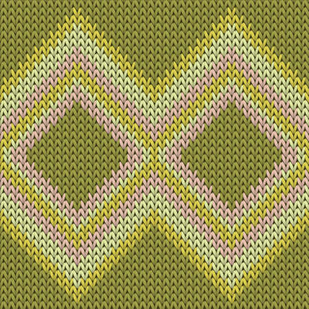 Vintage rhombus argyle knitting texture geometric seamless pattern. Pullover knit tricot  fabric print. Fashionable seamless knitted pattern. Fabric canvas illustration.
